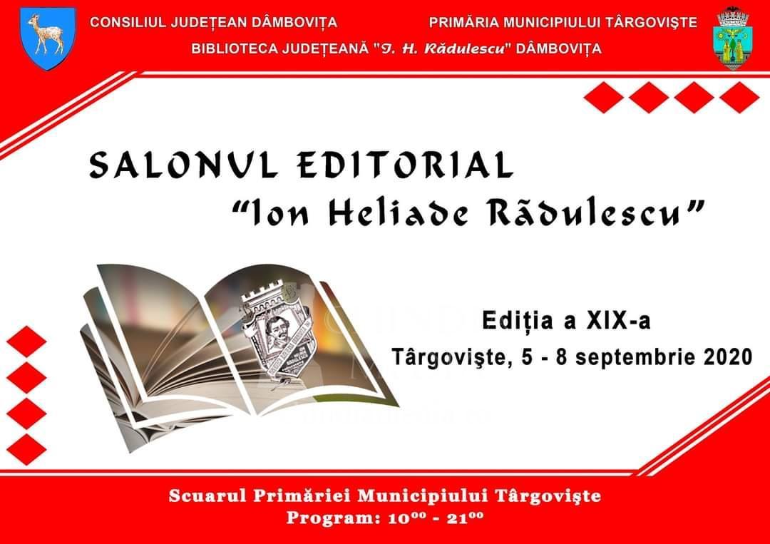 """CULTURAL: Salonul Editorial """"Ion Heliade Rădulescu"""" se va desfășura în Scuarul Primăriei Târgoviște"""