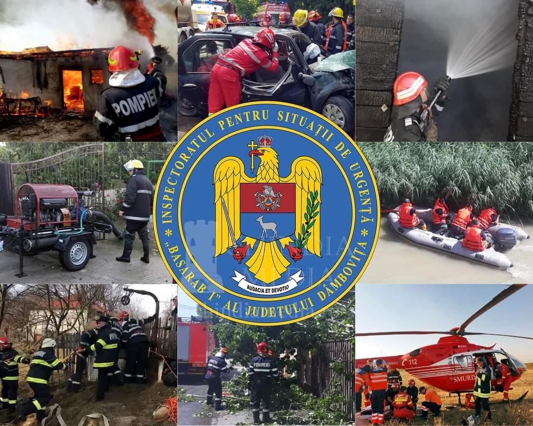 """Acţiuni de intervenţie şi activităţi preventive ale ISU """"Basarab I"""" Dâmboviţa în perioada 15 – 21 februarie 2021"""