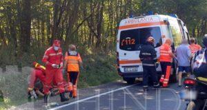 ACCIDENT: Asigurare de zonă la un accident rutier produs în cartierul Priseaca din Târgoviște