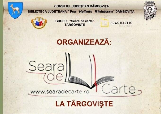 """""""Seara de carte la Târgovişte""""- Joi, 1 octombrie 2020, ora 17.30, Biblioteca Judeţeană """"I. H. Rădulescu"""" Dâmboviţa"""