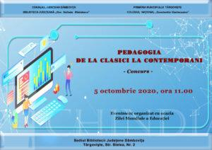 "Concurs de istorie: ""Pedagogia – de la clasici la contemporani"""