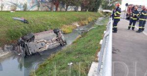 ISU DÂMBOVIȚA: CONDUCĂTOR AUTO SALVAT DUPA CE A CAZUT CU AUTOTURISMUL ÎNTR-UN CANAL DE IRIGAȚII