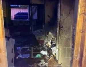 POMPIERII: Incendiu la o garsonieră dinTârgoviște