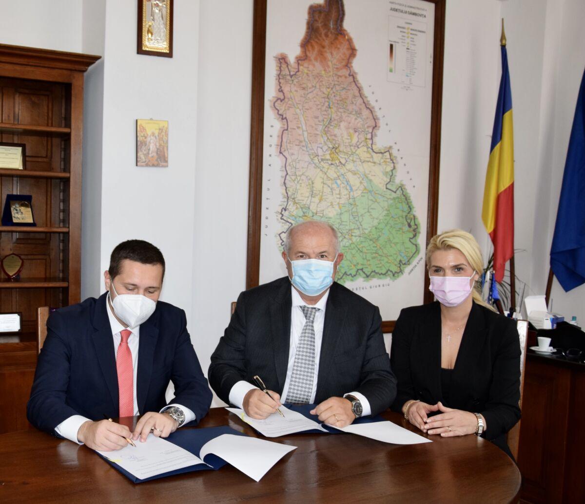 Protocol de colaborare între Camera de Comerț, Industrie și Agricultură Dâmbovița și Consiliul Județean Dâmbovița