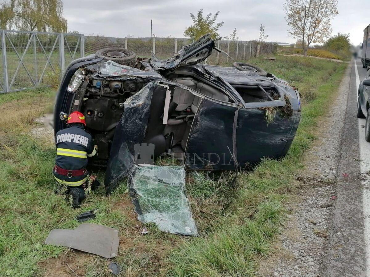 ISU DÂMBOVIȚA : Accident rutier produs în localitatea Mija