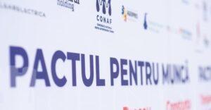 CONAF: PACTUL PENTRU MUNCĂ, consultări cu partidele politice