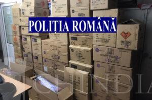 Polițiștii dâmbovițeni au confiscat 500 de kilograme de articole pirotehnice