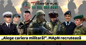 CMJ Dâmbovița: Au început înscrierile pentru cei ce doresc o cariera militară