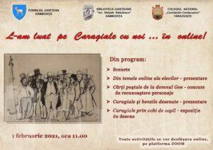"""Biblioteca Județeană și Colegiul Național """"Constantin Cantacuzino"""" vor organiza o sesiune culturală"""" I. L. Caragiale"""""""
