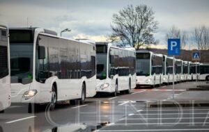 TARGOVISTE: Primele 11 autobuze livrate de Mercedes Benz au ajuns la Târgoviște