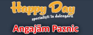 Cofetăriile Happy Day angajează paznic