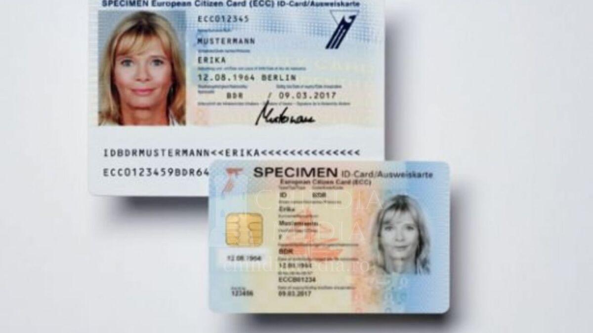 Cartea electronică de identitate, de dimensiunile unui card bancar, va putea stoca și semnătura digitală